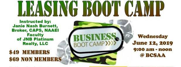 Leasing Boot Camp - June 12, 2019