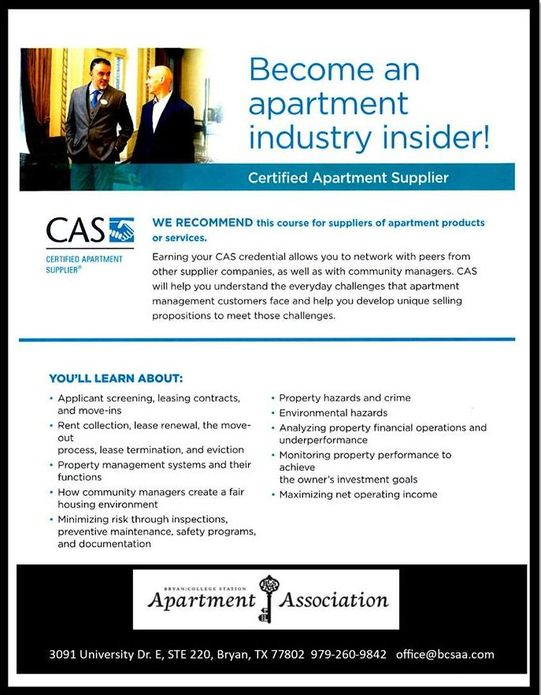 Certified Apartment Supplier